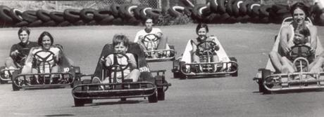 In this 1974 photo, young people drove go-karts at Starland Roadway in Hanover.